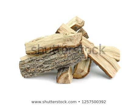 Drewno opałowe posiekane ranczo gospodarstwa drewna Zdjęcia stock © nito