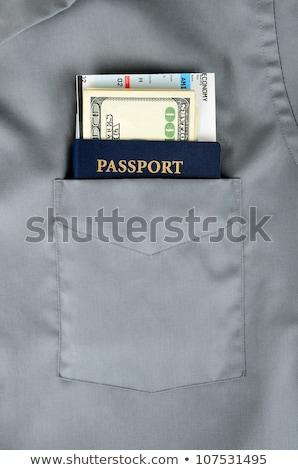 Boarding zak shirt twee Rood witte Stockfoto © Hofmeester