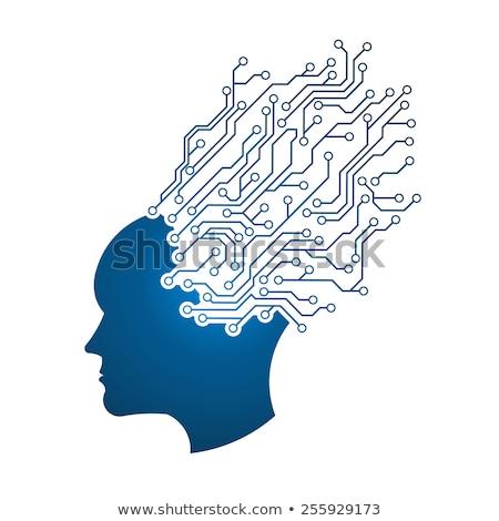 Homem cabeça circuito abstração pensando e Foto stock © joseph_arce