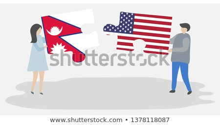 USA and Nepal Flags in puzzle Stock photo © Istanbul2009