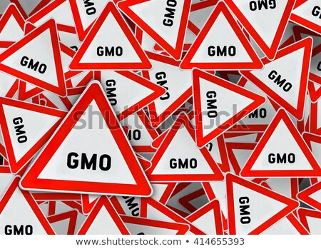 gmo on warning road sign stock photo © tashatuvango