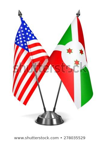USA and Burundi - Miniature Flags. Stock photo © tashatuvango