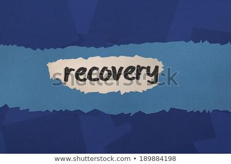 Digitally generated blue paper strewn Stock photo © wavebreak_media