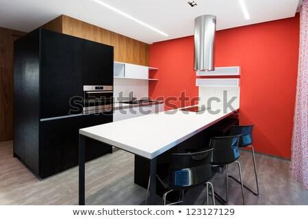 moderno · cucina · mobili · interni · cottura · vita - foto d'archivio © pixpack