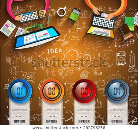 辦公室 · 工作場所 · 向量 · 模板 · 橫幅 - 商業照片 © davidarts