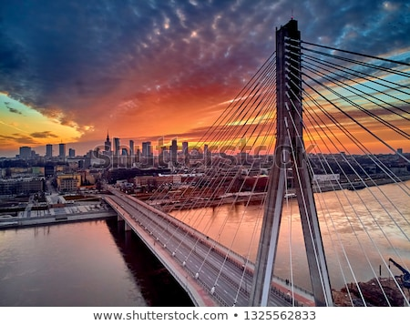 моста Варшава Польша вечер время Европа Сток-фото © benkrut