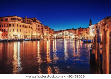 rialto bridge ponte di rialto at night stock photo © andreykr