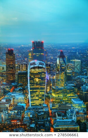 aerial overview of the city of london financial ddistrict stock photo © andreykr