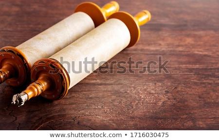 rolar · pergaminho · hebraico · texto · anos - foto stock © oleksandro