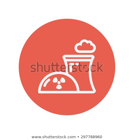 ecology with prepeller design thin line icon stock photo © rastudio