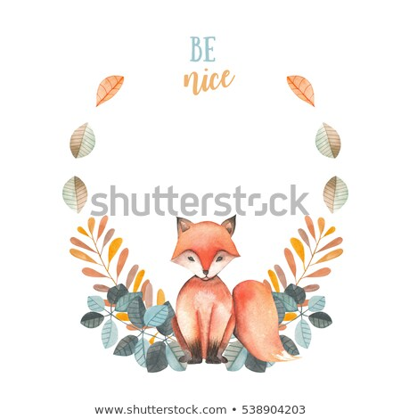 Köszönjük kártya narancs vízfesték kör terv Stock fotó © gladiolus