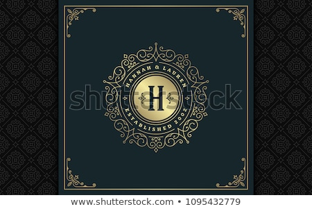 Stock photo: heraldic golden frame