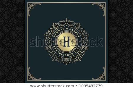 heraldic golden frame stock photo © oblachko