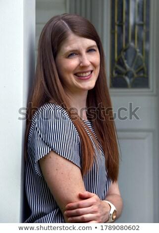Esbelto jeans belleza retrato hermosa Foto stock © lithian
