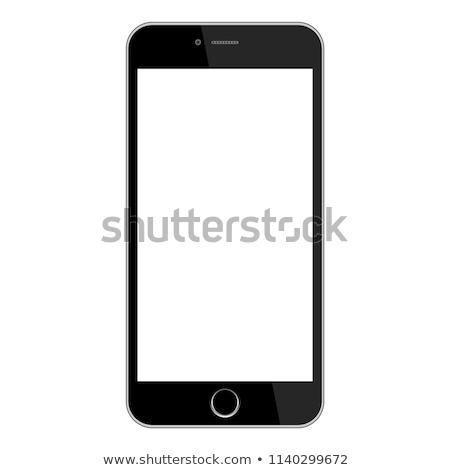 écran · tactile · téléphone · portable · gradient · isolé · blanche · affaires - photo stock © marilyna