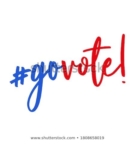 Votar mensagem vermelho lápis branco escrever Foto stock © fuzzbones0