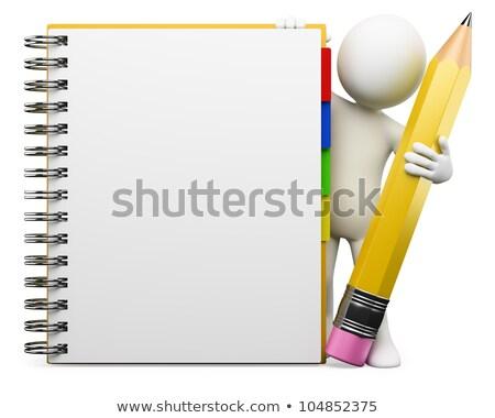 3d ember iskolatábla kép férfi űr kéz Stock fotó © magann