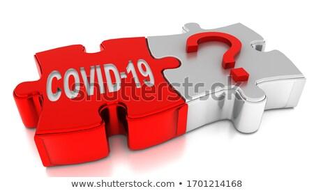 Virus - White Word on Red Puzzles. Stock photo © tashatuvango