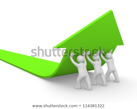 Business team push Profit arrow up stock photo © fuzzbones0