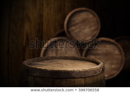 wine and cask on table stock photo © givaga