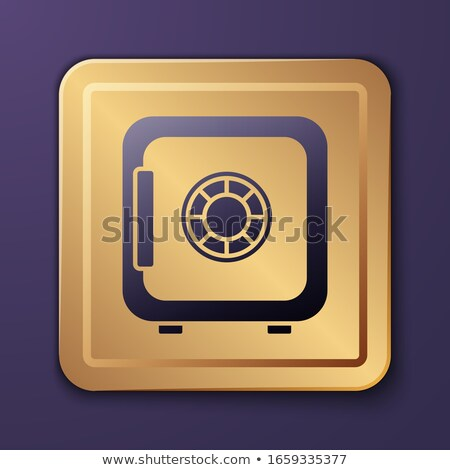 Stock photo: Vault Golden Vector Icon Button