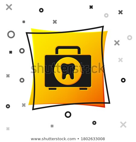 health kit yellow vector icon button stock photo © rizwanali3d
