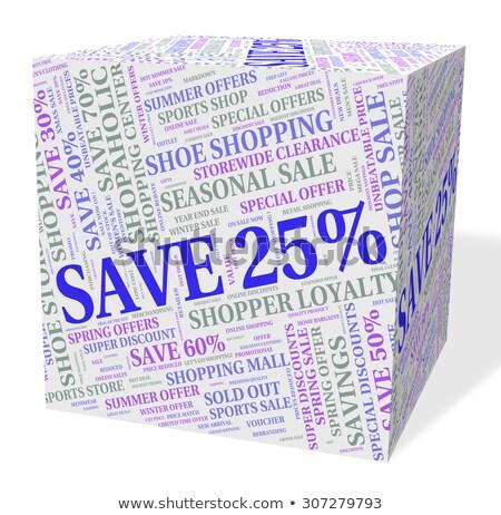 Mentés húsz százalék szavak szöveg promóciós Stock fotó © stuartmiles