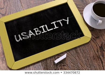 Usability Handwritten on Chalkboard. Stock photo © tashatuvango