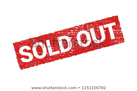 Red stamp on a white background - Sold Stock photo © Zerbor