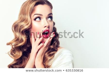 Surprised pinup girl Stock photo © svetography