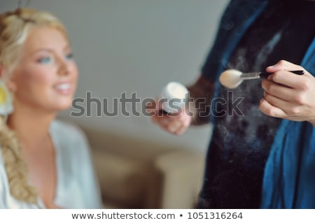 Sexy blonde model with a veil Stock photo © jrstock