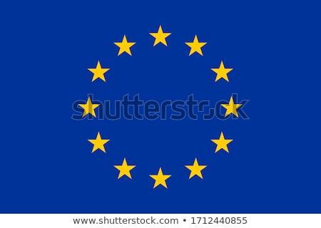 Flag of Europe isolated over white background Stock photo © shutswis