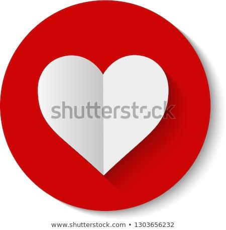 serca · dar · tag · papieru · tle · biały - zdjęcia stock © lenapix
