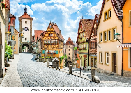 Ház Németország város erdő fal fák Stock fotó © meinzahn