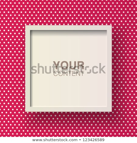 frames with polka dot background eps 10 stock photo © beholdereye