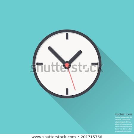 Clock icon , Flat design style, vector illustration. long shadow Stock photo © jabkitticha