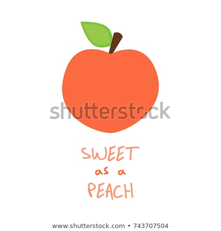 Heart-shaped peach, whole fruit Stock photo © ikopylov