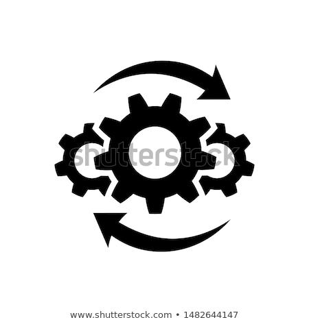 Integração inovação ícone negócio cinza botão Foto stock © WaD