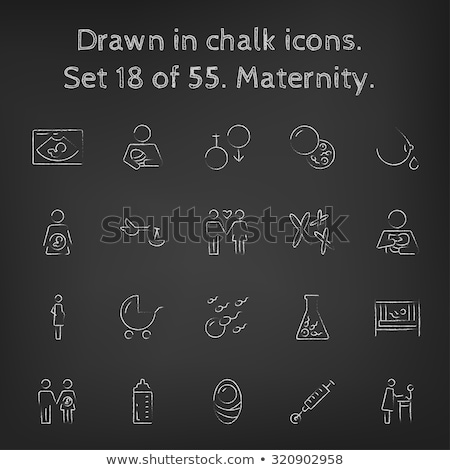 in vitro fertilisation drawn in chalk icon stock photo © rastudio