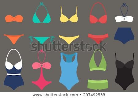 Moda kadın mayo bikini vektör ikon Stok fotoğraf © MarySan