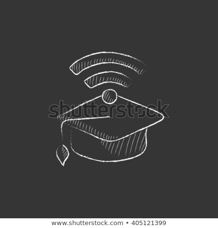 окончания Cap wi-fi знак мелом Сток-фото © RAStudio