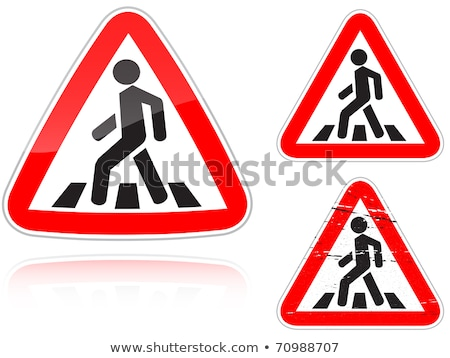 Approaching unregulated pedestrian crossing stock photo © boroda