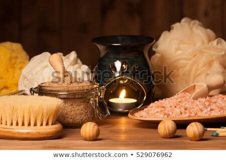Salt lamps of pink Himalayan salt  Stock photo © grafvision