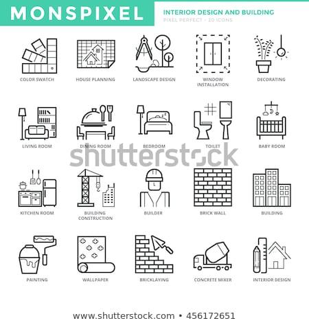 ícone · concreto · batedeira · botão · projeto - foto stock © angelp