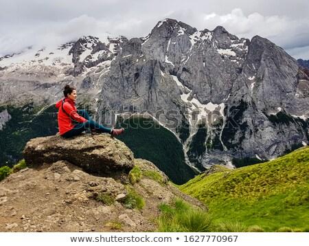 Marmolada mountain with glacier Stock photo © LianeM