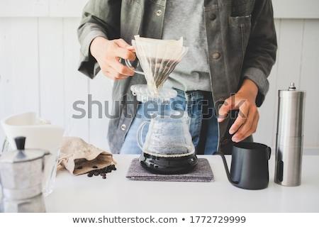 Café café expresso tempo café da manhã copo Foto stock © wime