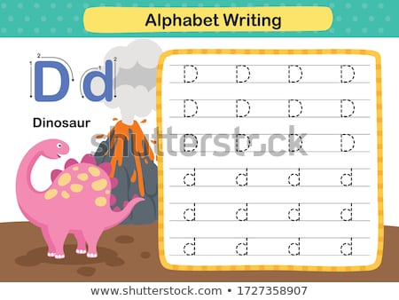 буква d Динозавры иллюстрация фон образование животного Сток-фото © bluering