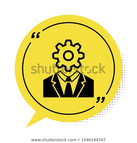 Vector of speech bubble inside human head Stock photo © adrian_n