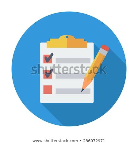 teendők · listája · szöveg · jegyzettömb · iroda · szerszámok · fa · asztal - stock fotó © fuzzbones0
