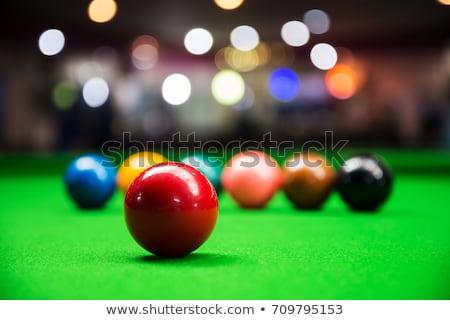 Snooker kırmızı beyaz spor havuz Stok fotoğraf © bluering